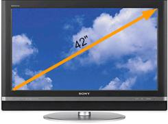TV Screen size example