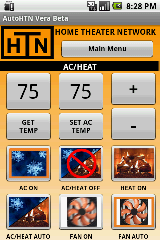 AutoHTN Thermostat Screen