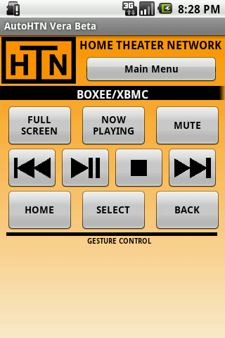 AutoHTN Boxee XBMC Screen