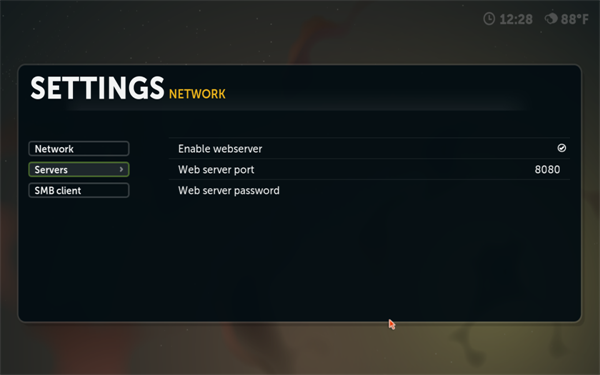 Boxee Network Settings