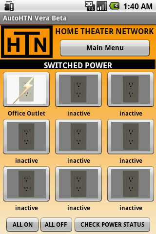 AutoHTN Outlets Screen