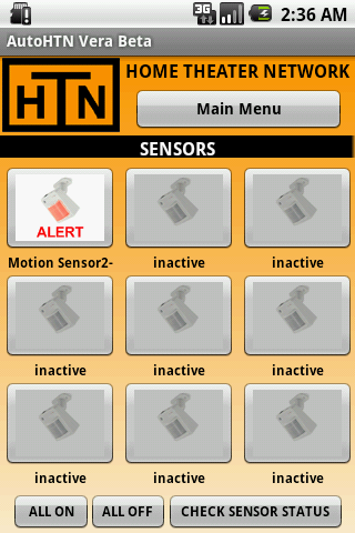 AutoHTN Security Screen
